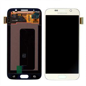 تصویر ال سی دی شرکتی گلکسی اس6 سامسونگ سفید LCD SAMSUNG Galaxy S6 WHITE