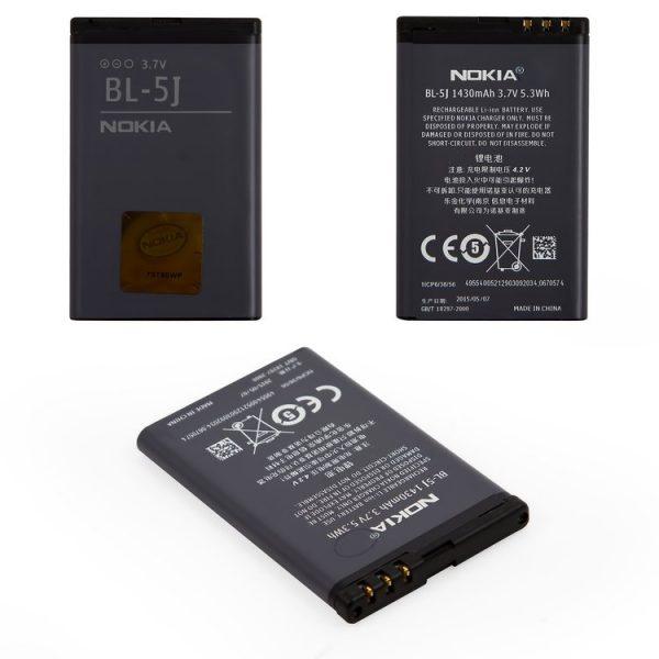 باتری-Battery-BL-5J-for-Nokia-200-Asha-201-Asha-302-Asha-5228-5230-5233-5235-5800-C3-00-N900-X1-00-X1-01-X6-00-Cell-Phones-Li-ion-3.6V-1350mAh