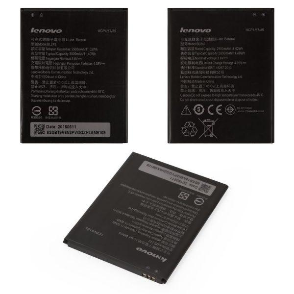 Battery-BL243-for-Lenovo-A7000-K3-Note-K50-T5-Cell-Phones-Li-ion-3.8V-3000mAh