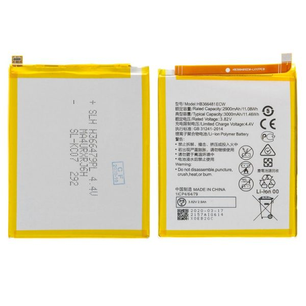 باتری-Battery-HB366481ECW-compatible-with-Huawei-Honor-8-Honor-9-Lite-Nova-2-Lite-P-Smart-P10-Lite-P20-Lite-P8-Lite-2017-P9-P9-Lite-Y6-2018-Y6-Prime-2018-Y7-Prime-2018-Y7-Pro-2018-Li-ion-3.82-V-3000-mAh-