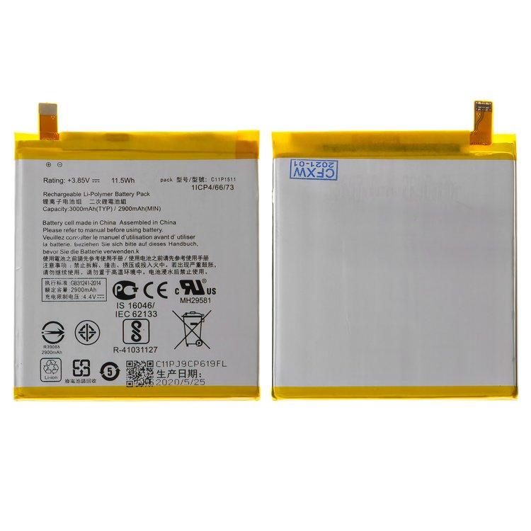 Battery-compatible-with-Asus-ZenFone-3-ZE552KL-ZenFone-3-Deluxe-ZS570KL-ZenFone-4-Selfie-Pro-ZD552KL-Li-Polymer-3.85-V-3000-mAh-without-logo-C11P1511