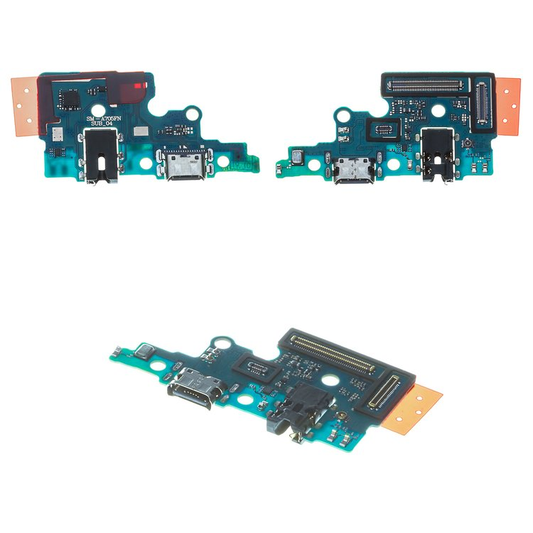 Flat-Cable-compatible-with-Samsung-A705F-DS-Galaxy-A70-charge-connector-with-microphone-charging-board