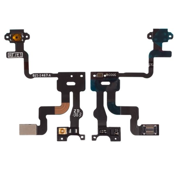 Flat-cable-for-Apple-iPhone-4S-ON-OFF-button-touchscreen-backlight-with-components