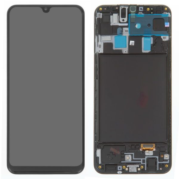 LCD-Samsung-A205F-DS-Galaxy-A20-black-with-touchscreen-with-frame-Original-GH82-19571A