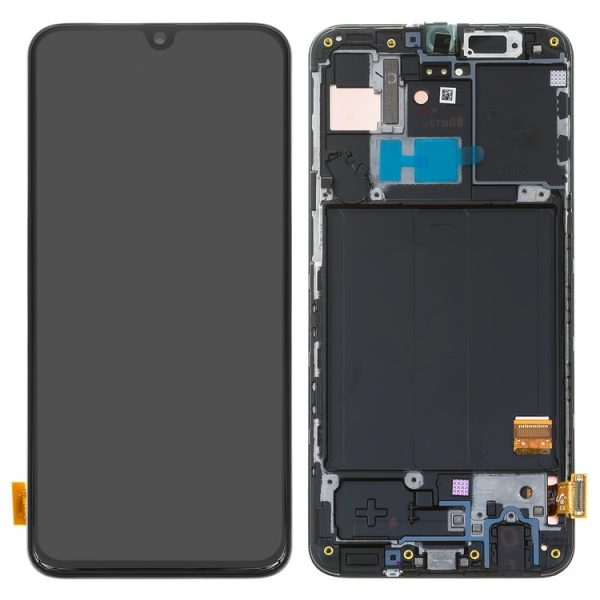 ال سی دی-LCD-Samsung-A405F-DS-Galaxy-A40-black-with-touchscreen-with-frame-Original-GH82-19672A