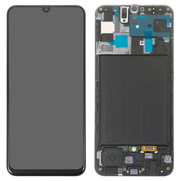 ال سی دی-LCD-Samsung-A505F-DS-Galaxy-A50-black-with-touchscreen-with-frame-Original-GH82-19204A