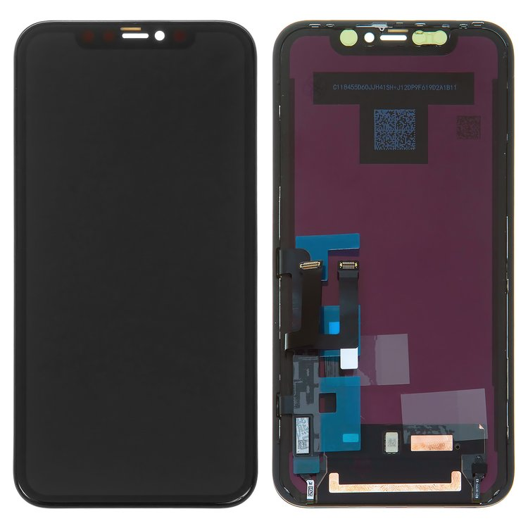 LCD-compatible-with-iPhone-11-black-with-touchscreen-with-frame-PRC-Self-welded-OEM