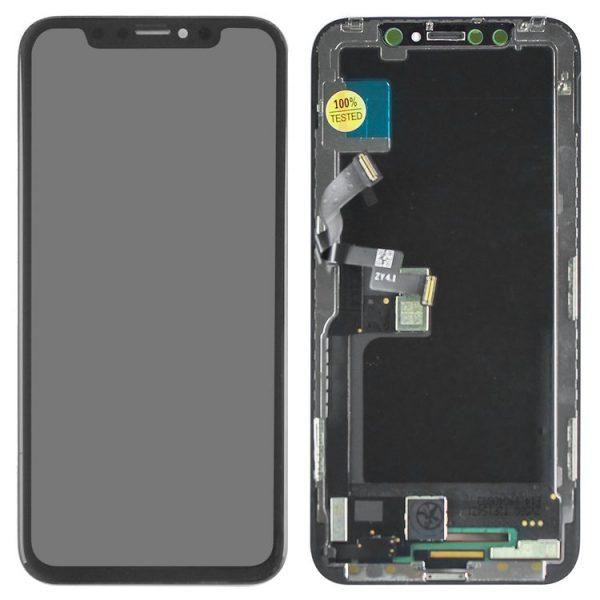 ال سی دی-LCD-iPhone-X-black-with-touchscreen-with-frame-with-flat-cable-OLED-Copy-BOE