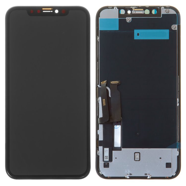 LCD-iPhone-XR-black-with-touchscreen-with-frame-Original-PRC