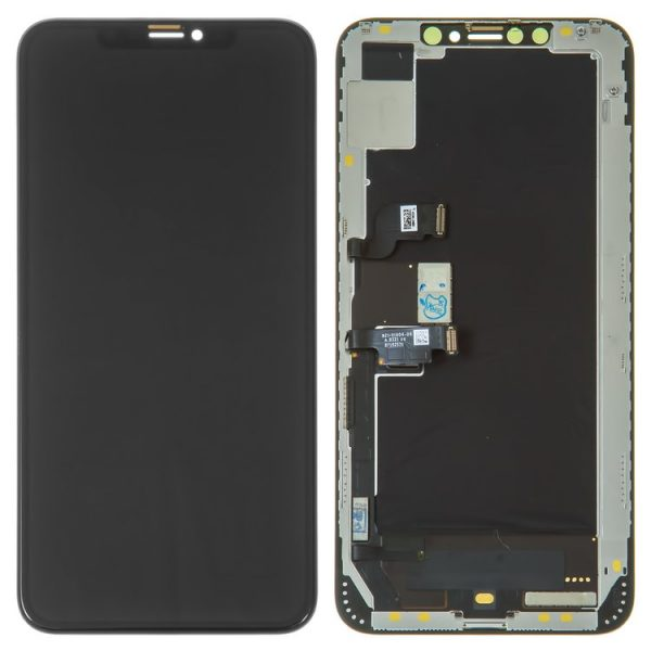 LCD-iPhone-XS-Max-black-with-touchscreen-with-frame-OLED-original-change-glass