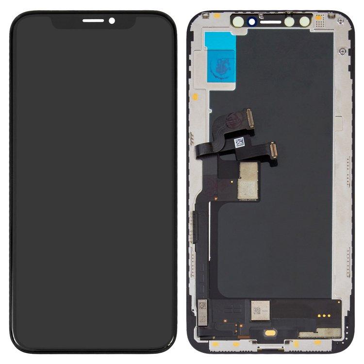 ال سی دی-LCD-iPhone-XS-black-with-touchscreen-with-frame-OLED-original-change-glass