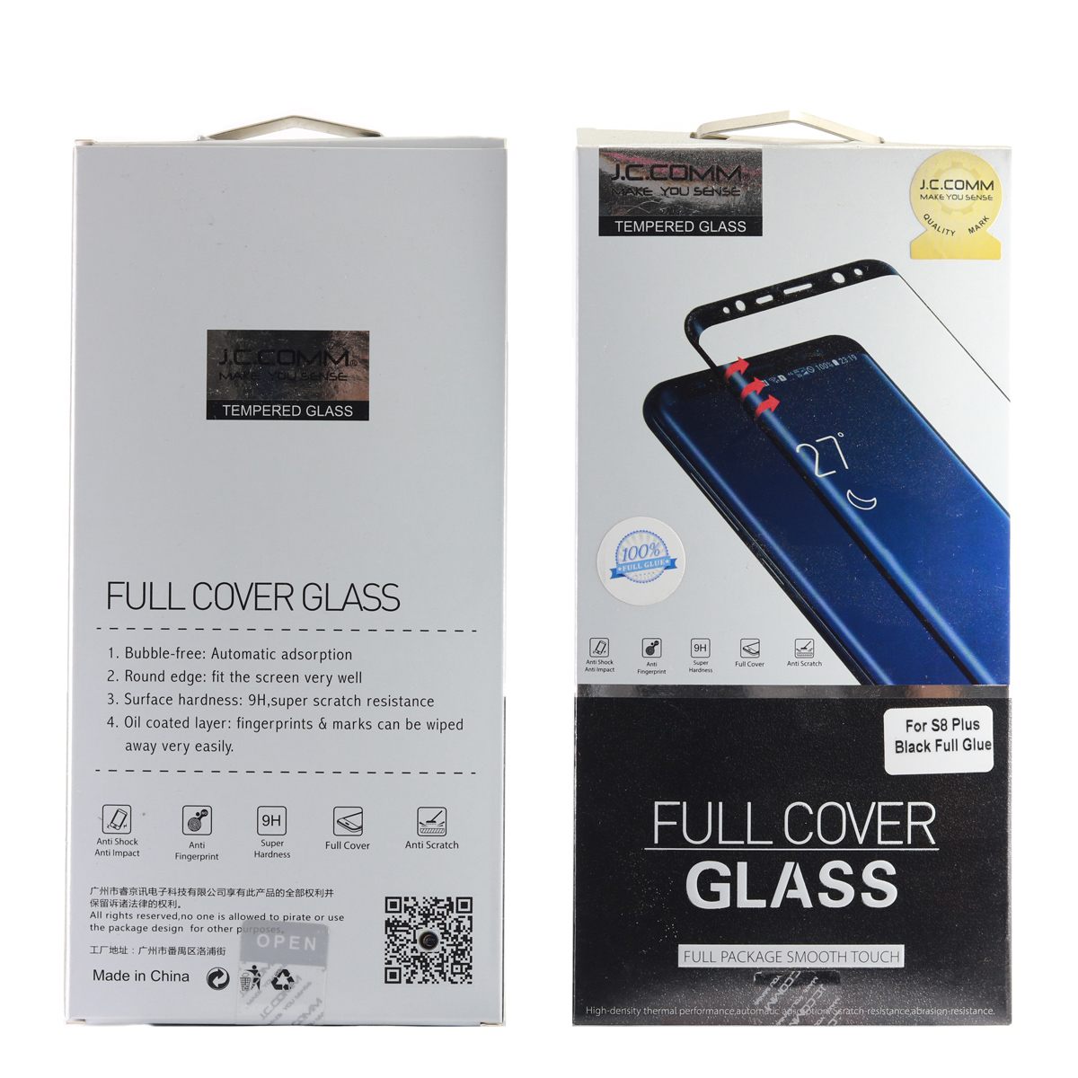 گلس GLASS JCCOMM S8 PLUS