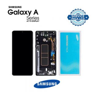 تصویر ال سی دی A71 سامسونگ مشکی شرکتی LCD SAMSUNG GALAXY A71 A715