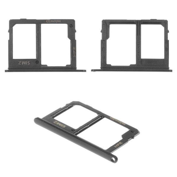 درب-سیم کارت-SIM-Card-Holder-for-Samsung-A600F-Dual-Galaxy-A6-2018-Cell-Phone-black-with-MMC-holder-SIM1-dual-SIM