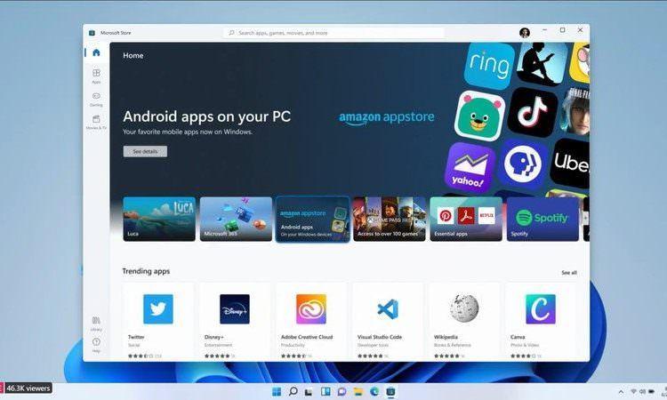 اجرای اپلیکیشنهای اندرویدی روی ویندوز 11